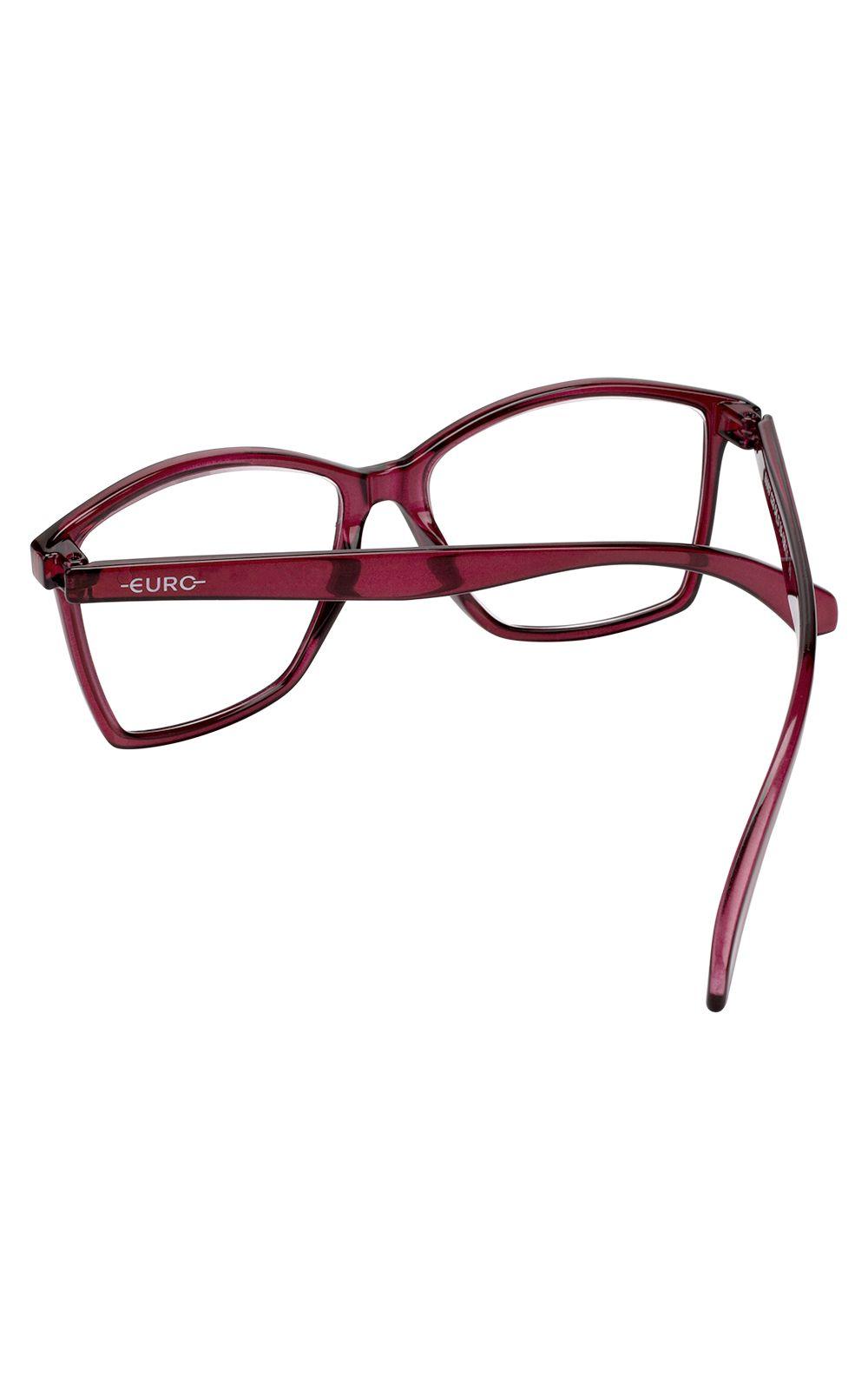 Foto 3 - Óculos Euro Feminino Color Fun Vermelho E6007C2354/8R