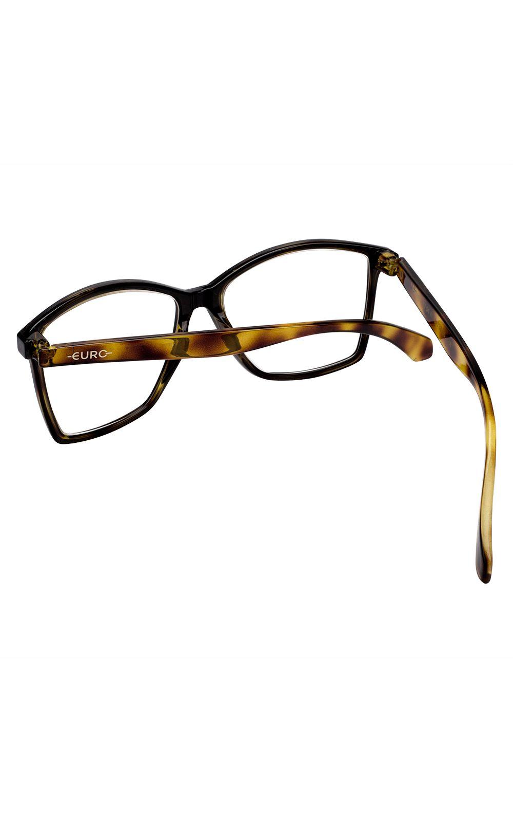 Foto 3 - Óculos Euro Feminino Color Fun Tartaruga E6007AFU54/8Y