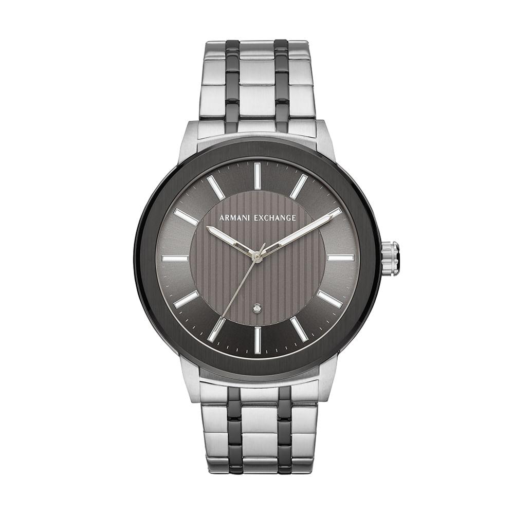 e1998886e31 Relógio Armani Exchange Masculino Maddox Prata AX1464 1KN - timecenter