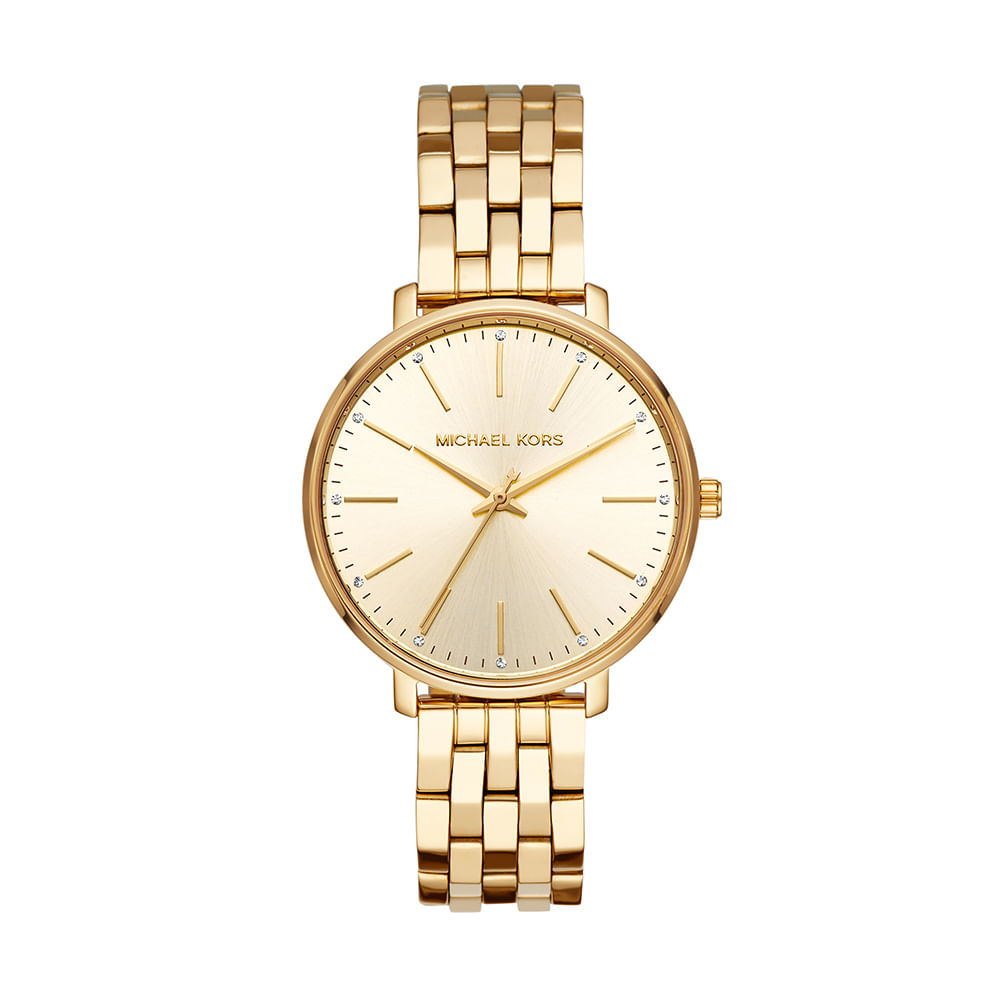 275ac0818b476 Relógio Michael Kors Feminino Pyper Dourado MK3898 1DN - timecenter