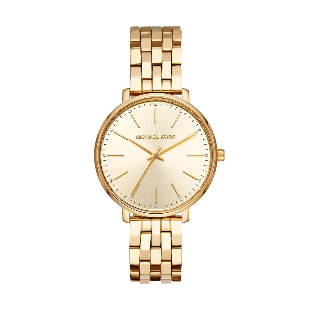 86b21d73a76f3 Relógio Michael Kors Feminino Pyper Dourado MK3898 1DN - timecenter