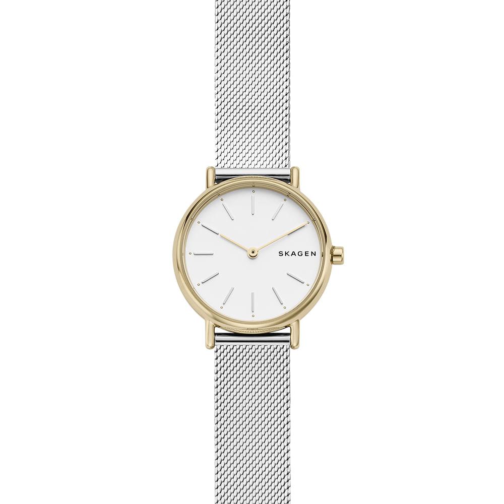 652ffd2313c90 Relógio Skagen Feminino Signatur Dourado SKW2729 1KN - timecenter