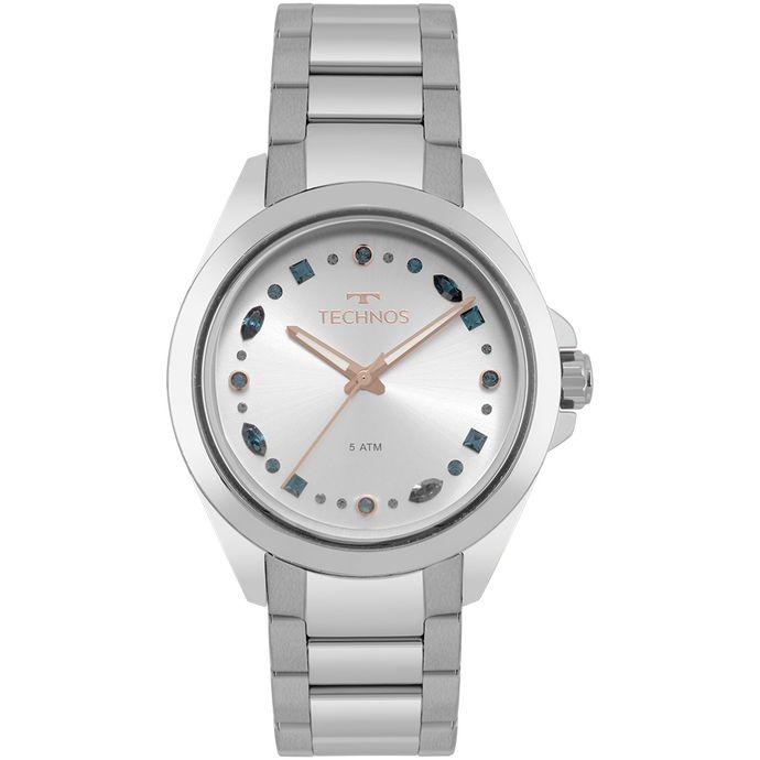 78dc52e9fb0 Relógio Technos Feminino Crystal Prata 203AAB 1K