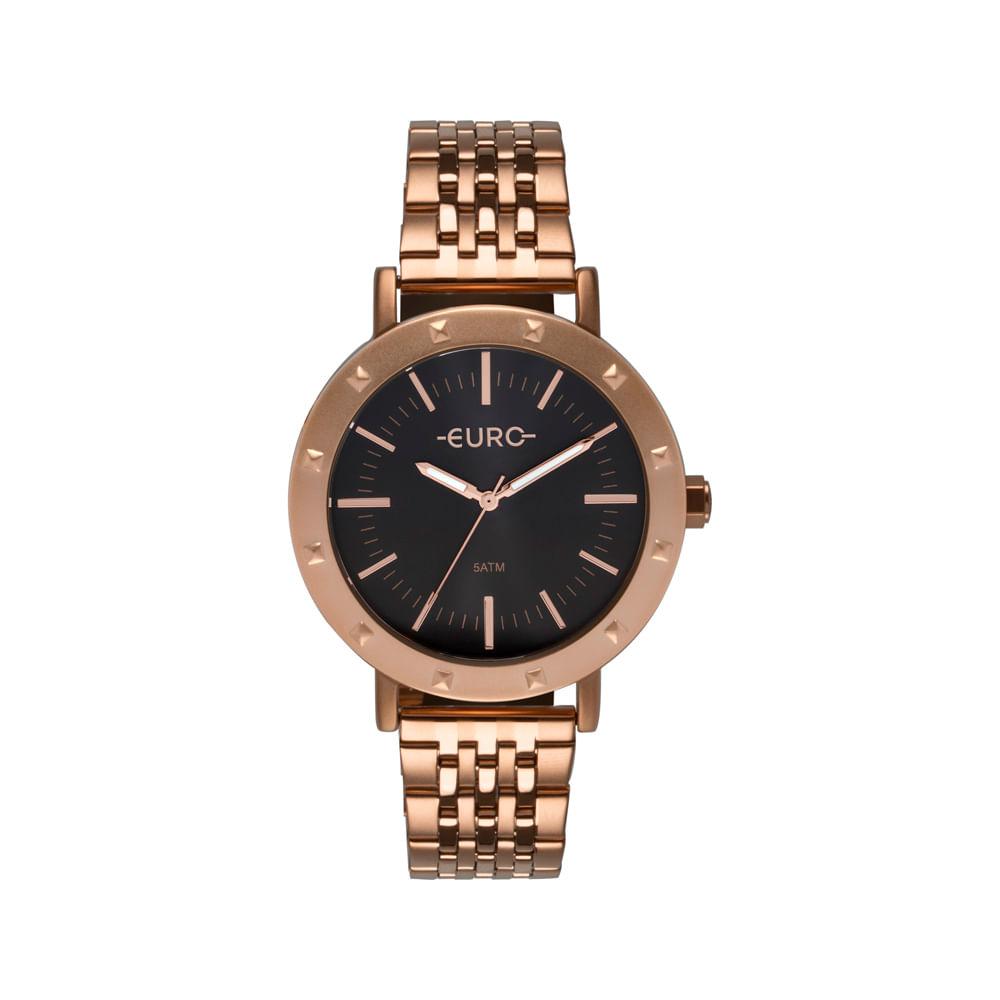 f565a9e872711 Relógio Euro Feminino Spike Fever Casual Rosé EU2035YPF 4C - timecenter