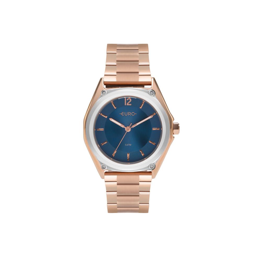 8125db7efcb3e Relógio Euro Feminino Color Mix Geometric Bicolor EU2035YPL 5A ...