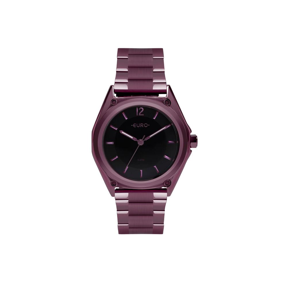 500b5d33cbe Relógio Euro Feminino Color Mix Geometric Roxo EU2035YPM 4P - timecenter