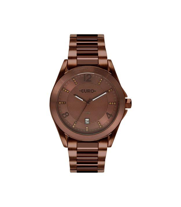 3840b0903d8 Relógio Euro Feminino Color Mix Shine Marrom EU2315HP 4M