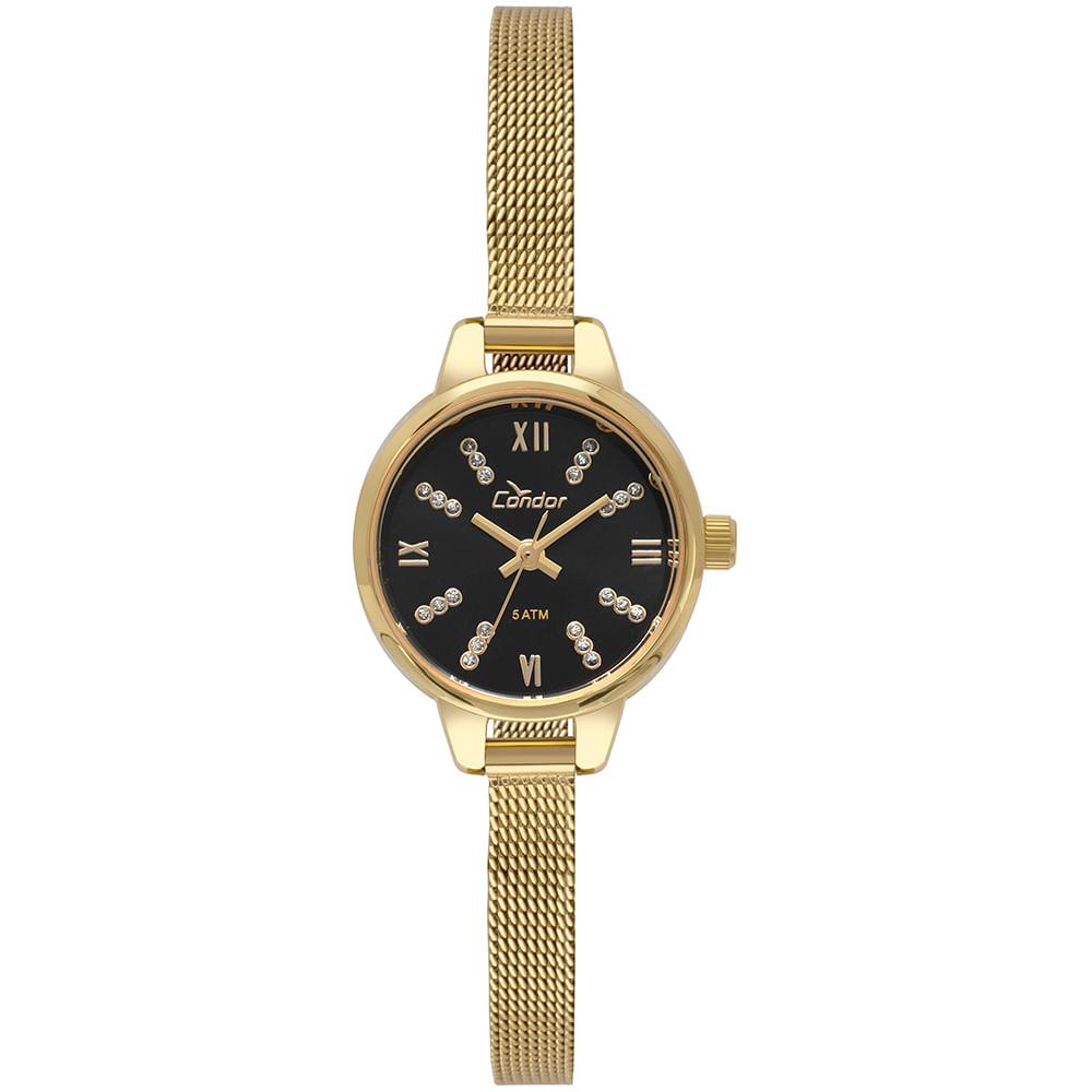 8e347da6450 Relógio Condor Feminino Mini Dourado CO2035KYI 4P - timecenter