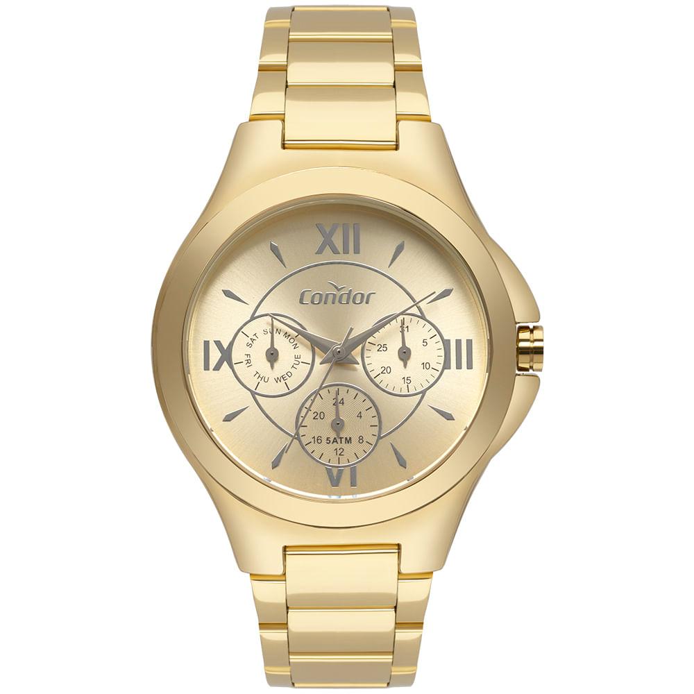 87a5de7d0 CO6P29IU4D 1. Condor. Relógio Condor Feminino Bracelete Dourado ...