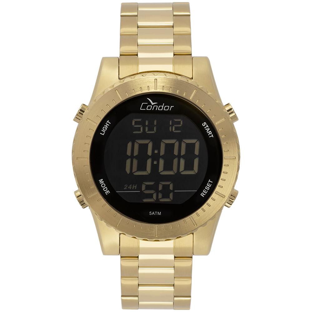 2c31713a7ea Relógio Condor Masculino Casual Digital Dourado COBJ3463AA 4D ...