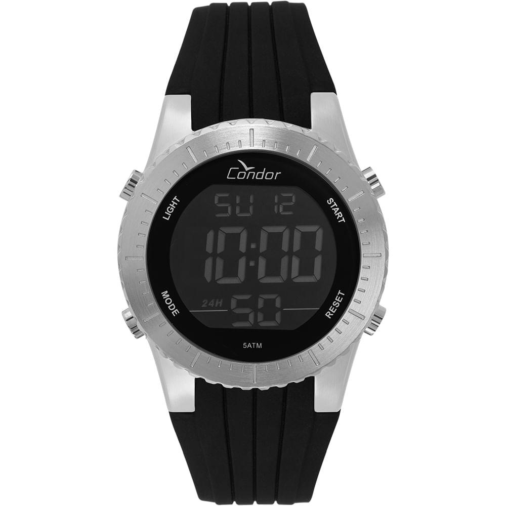 5aa28d5f966 Relógio Condor Masculino Casual Digital Prata COBJ3463AC 3K - condor
