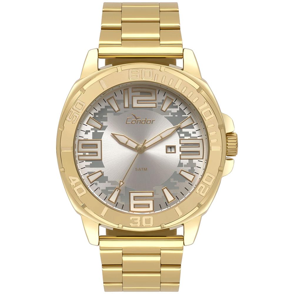 5baf3a195ea Relógio Condor Masculino Civic Dourado CO2115KTZ 4K. 0% Off. Código   CO2115KTZ 4K