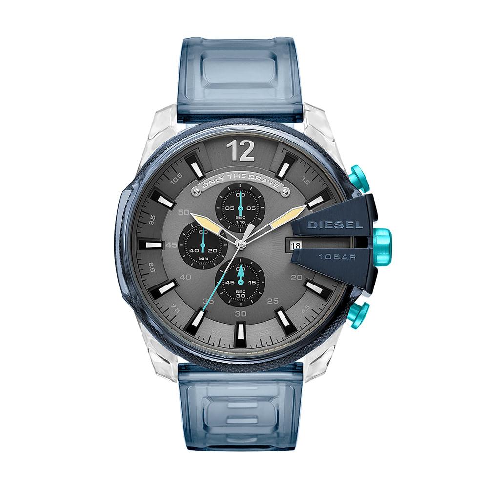 0493d6173fd Relógio Diesel Masculino Digital Blue Prata DZ4487 0AN - timecenter