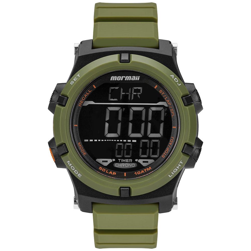 Relógio Mormaii Masculino Raízes Verde MO1192AD 8V - timecenter 07dd0a3340