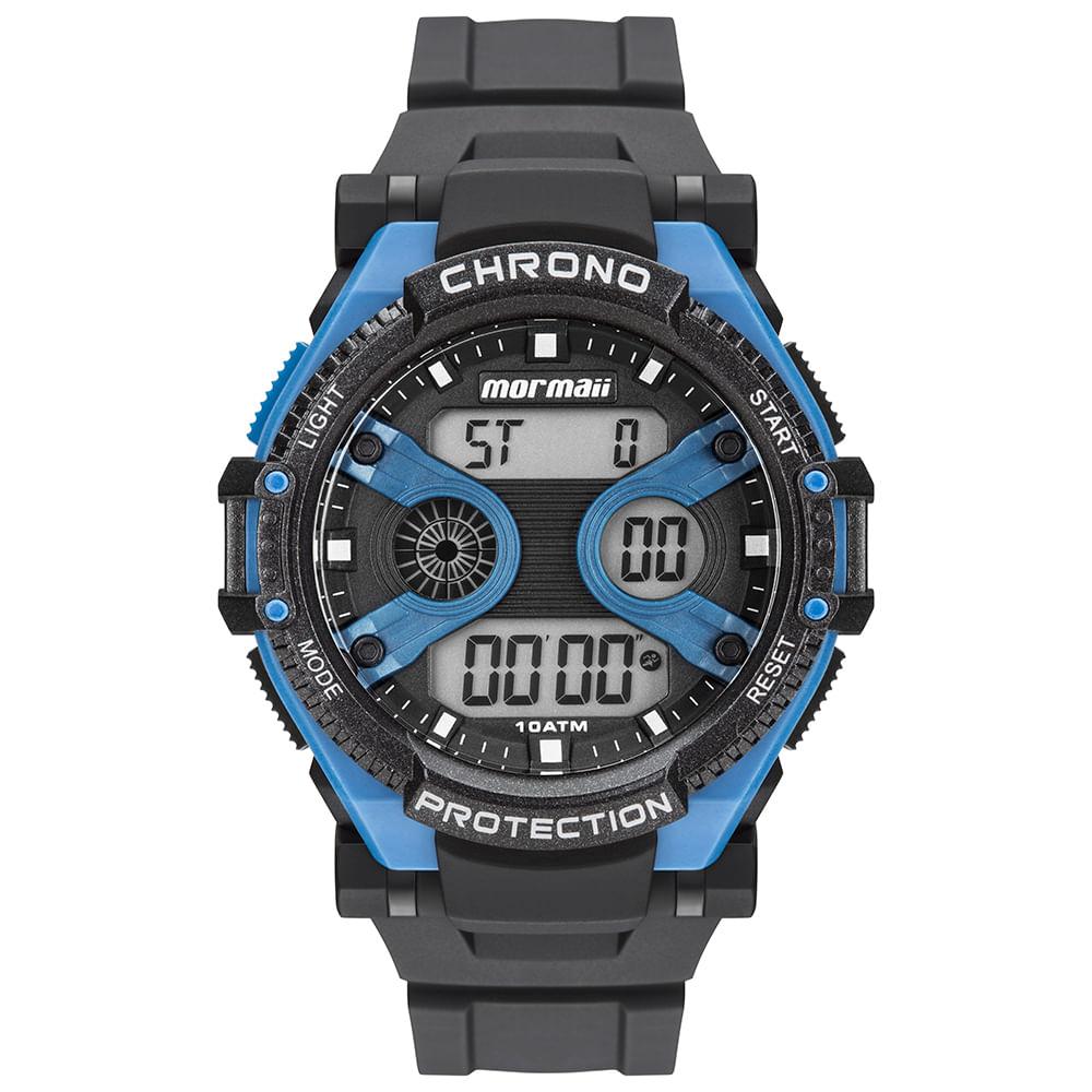 60b510e8da8fc Relógio Mormaii Masculino Acqua Preto MO8590AA 8A - timecenter