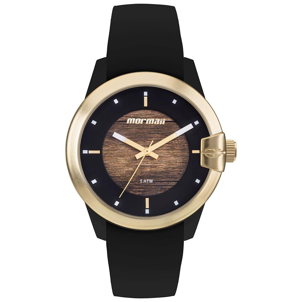 Relógio Mormaii Feminino Wood Dourado MO2035JL 8M - timecenter 015b66b6b5