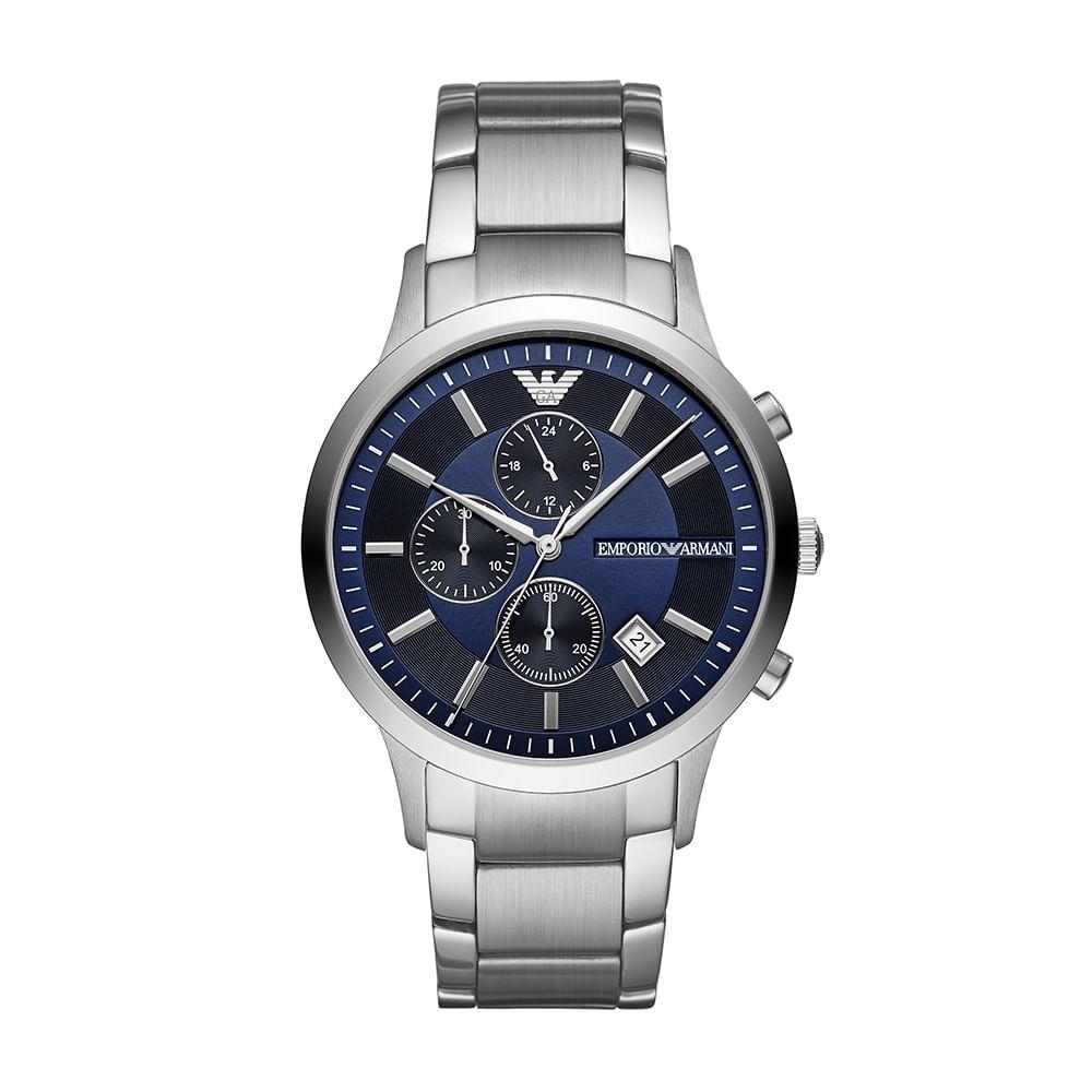 f3018487cf1 Relógio Empório Armani Masculino Renato Prata AR11164 1KN - timecenter