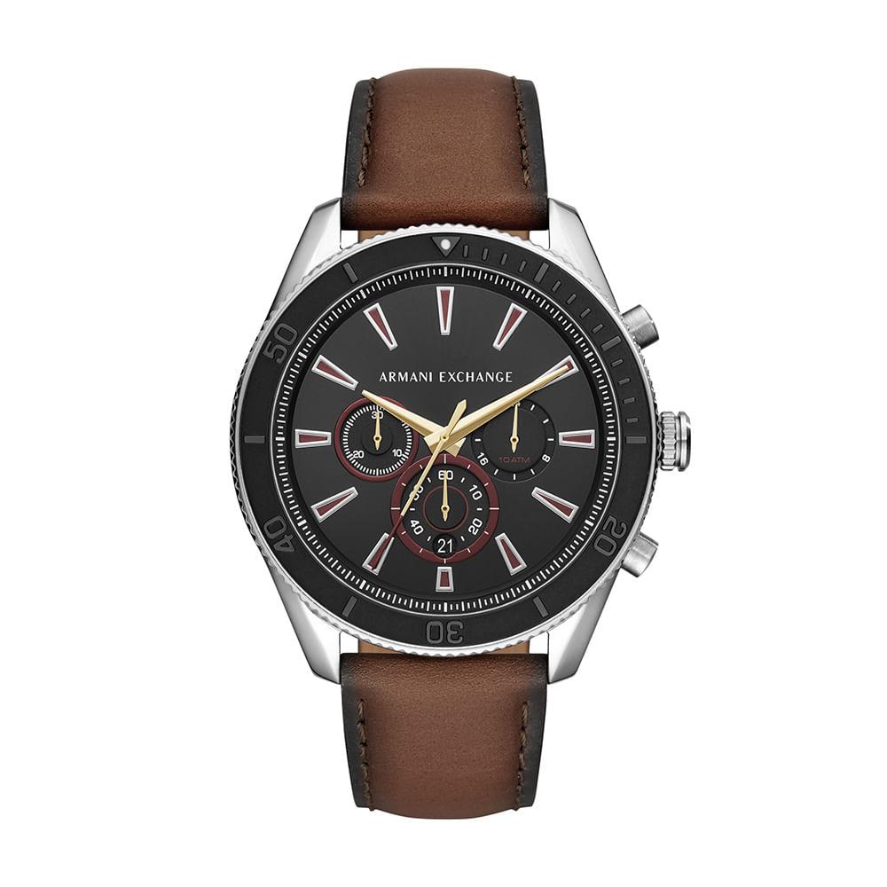 528b53170ed Relógio Armani Exchange Masculino Robustos Prata AX1822 0MN - timecenter