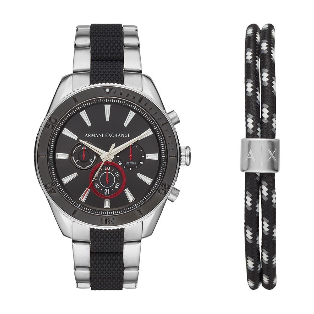 9790cad5878 Relógio Armani Exchange Masculino Robustos Prata AX7106 1KN - timecenter