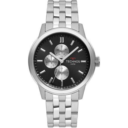 Relógio Technos Masculino Grandtech Prata 6P27DS/1C