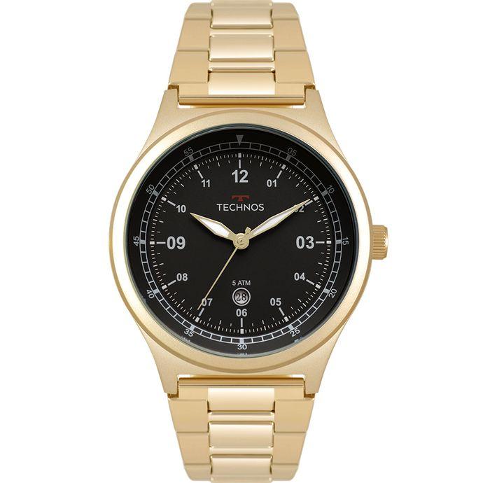 4660c6d01ce Relógio Technos Masculino Militar Dourado 2115MQY 4P