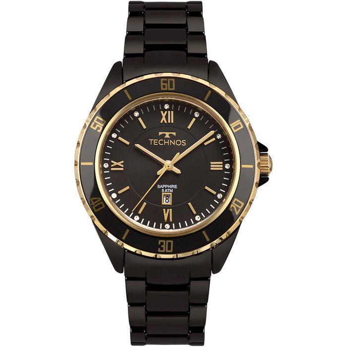 db3044ff9063e Relógio Technos Feminino Ceramic Dourado 2015CAO 4P - technos
