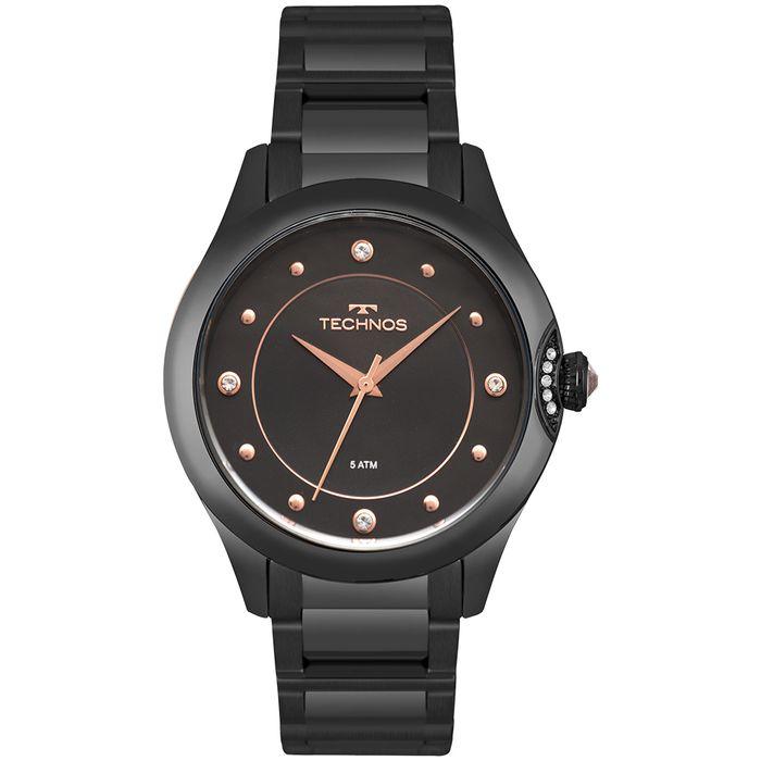 Relógio Technos Feminino Crystal Preto 2035MPZ 5P - technos 82f9be5237