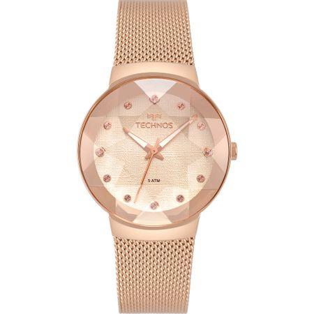 Relógio Technos Feminino Crystal Rosé 2035MPX/5T
