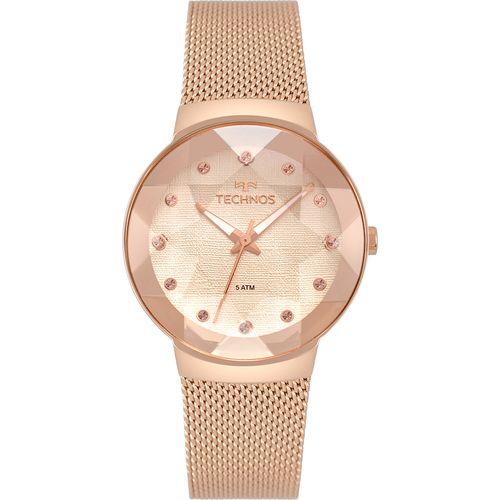 6515516439b Relógio Technos Feminino Crystal Rosé 2035MPX 5T - timecenter