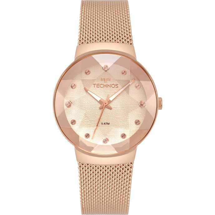 ffddc3e78a6 Relógio Technos Feminino Crystal Rosé 2035MPX 5T