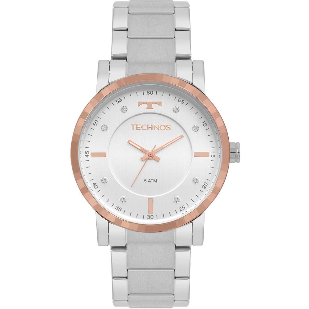 8f4a346eaa1 Relógio Technos Feminino Trend Bicolor 2036MJP 1C - timecenter