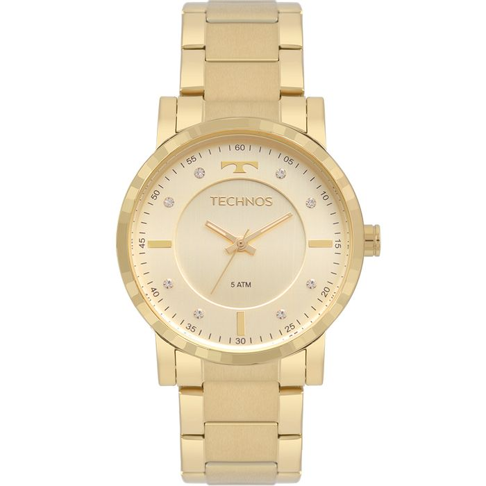 Relógio Technos Feminino Trend Dourado 2036MJS 4X - technos 8a70bc4e70