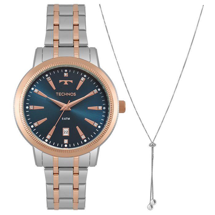29fcf40f2cae2 Relógio Technos Feminino Trend Bicolor 2115MRT K5A - technos