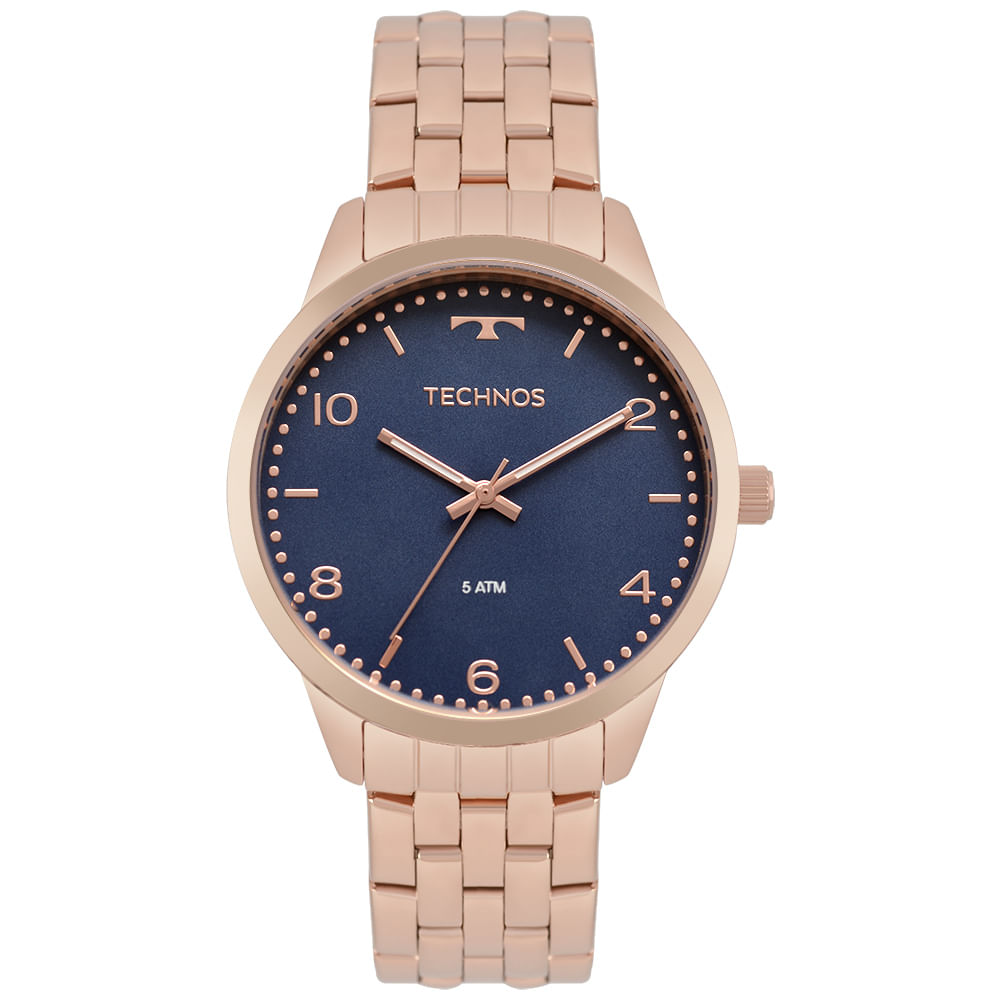 Relógio Technos Feminino Dress Rosé 2035MPK 4A - timecenter 69d371d7b0