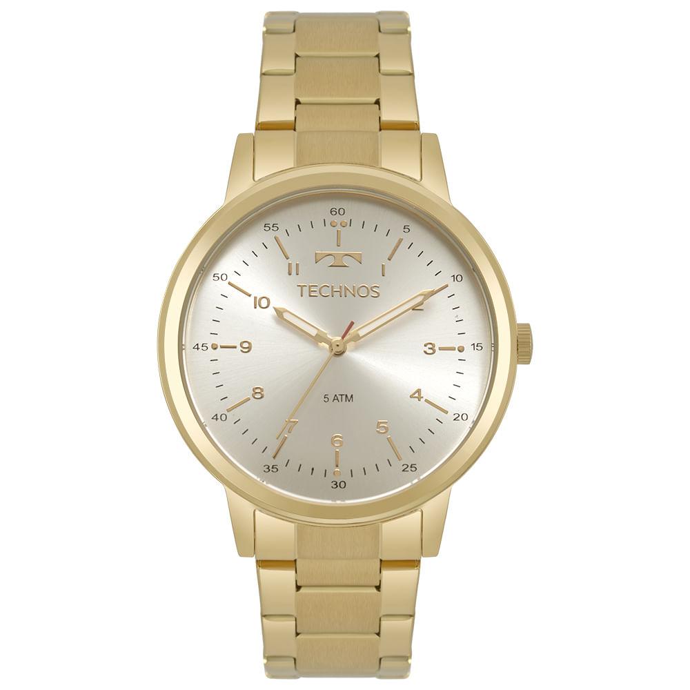 45216e1df3c Relógio Technos Feminino Dress Dourado 2035MPO 4B - timecenter