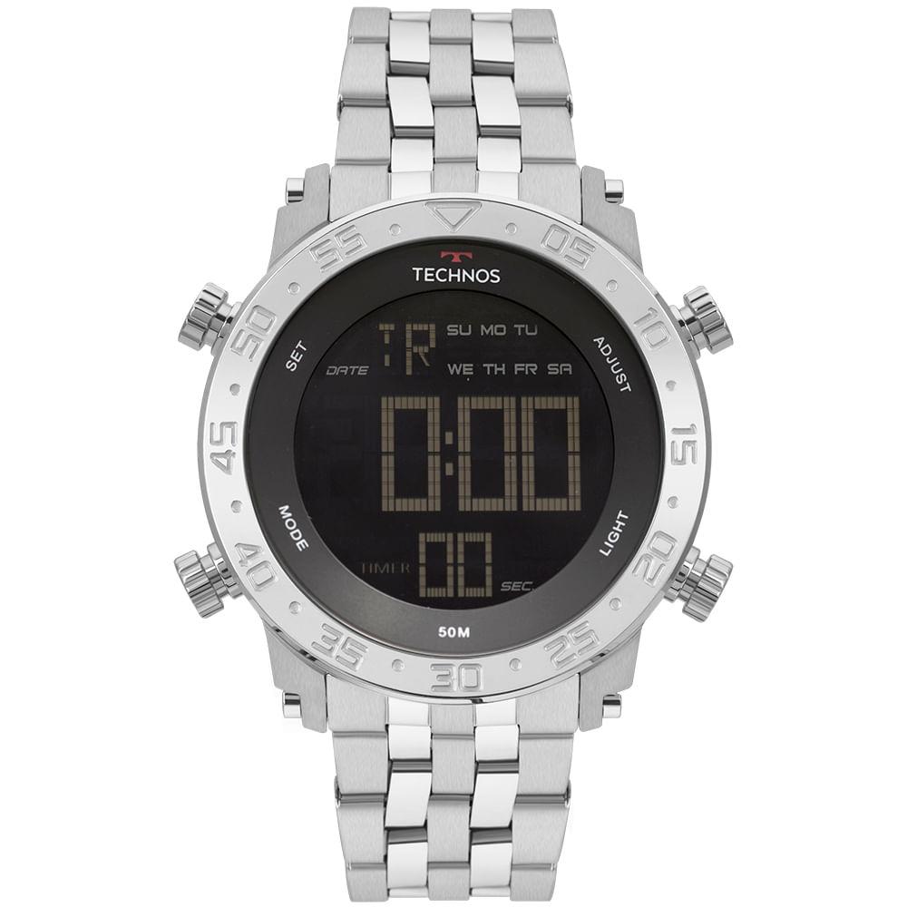 Relógio Technos Masculino Digi-Ana Prata BJK006AB 1P - timecenter 4c5c50bfe6