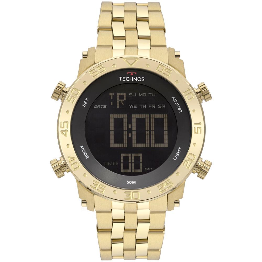 f72a47be736 Relógio Technos Masculino Digi-Ana Dourado BJK006AC 4P - timecenter
