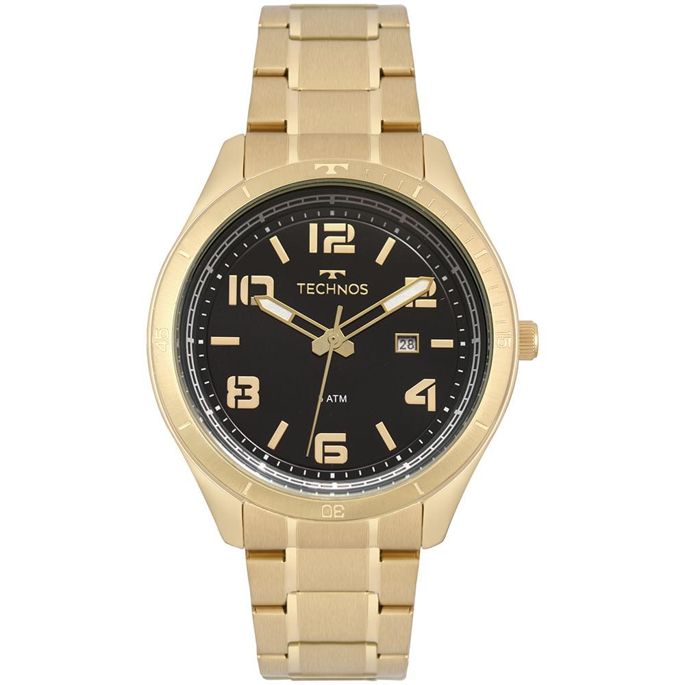 Relógio Technos Masculino Racer Dourado 2115MPC 4P - timecenter afffa9dd82
