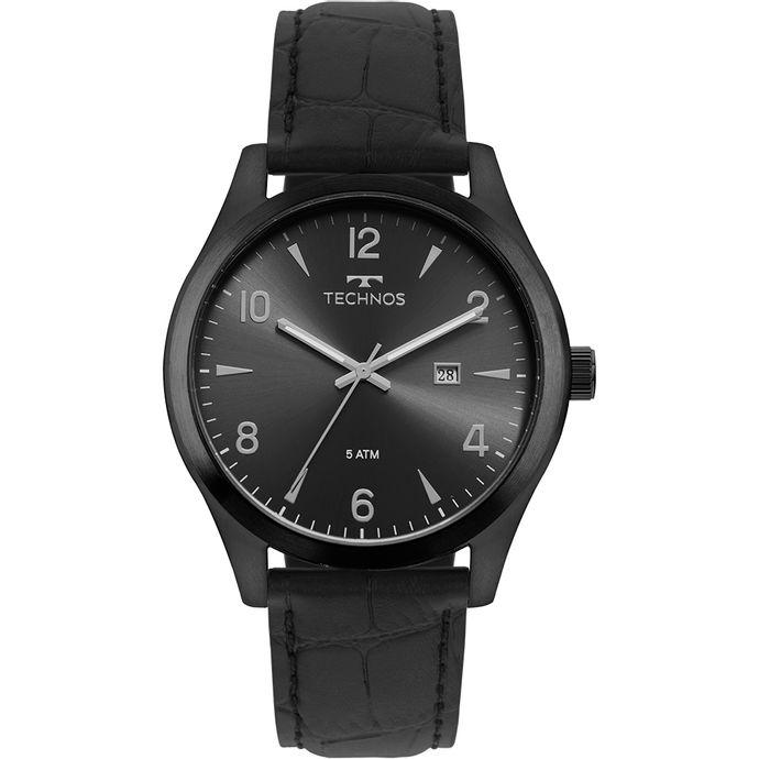 fb01ea5e0a175 Relógio Technos Masculino Steel Preto 2115MRD 2P