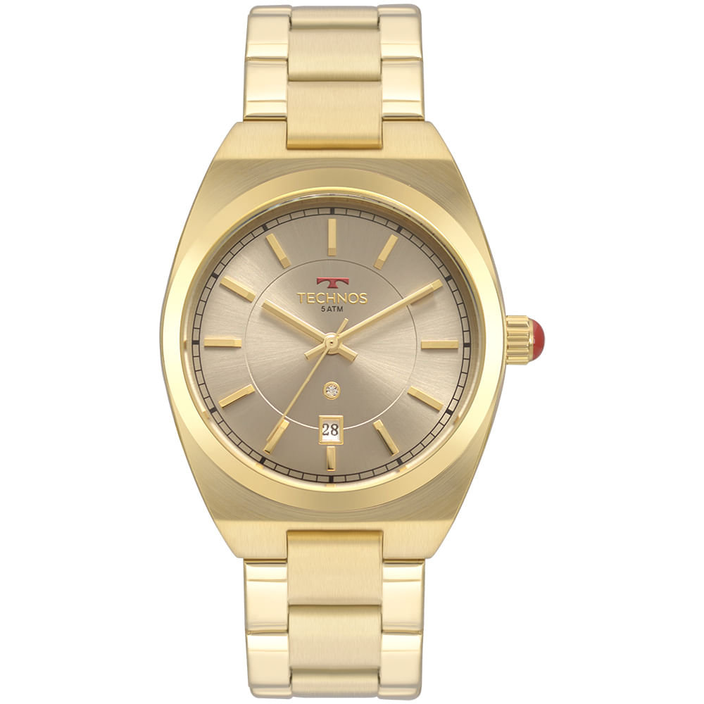 Relógio Technos Feminino Trend Dourado 2117LAT 4C - timecenter 05da732403