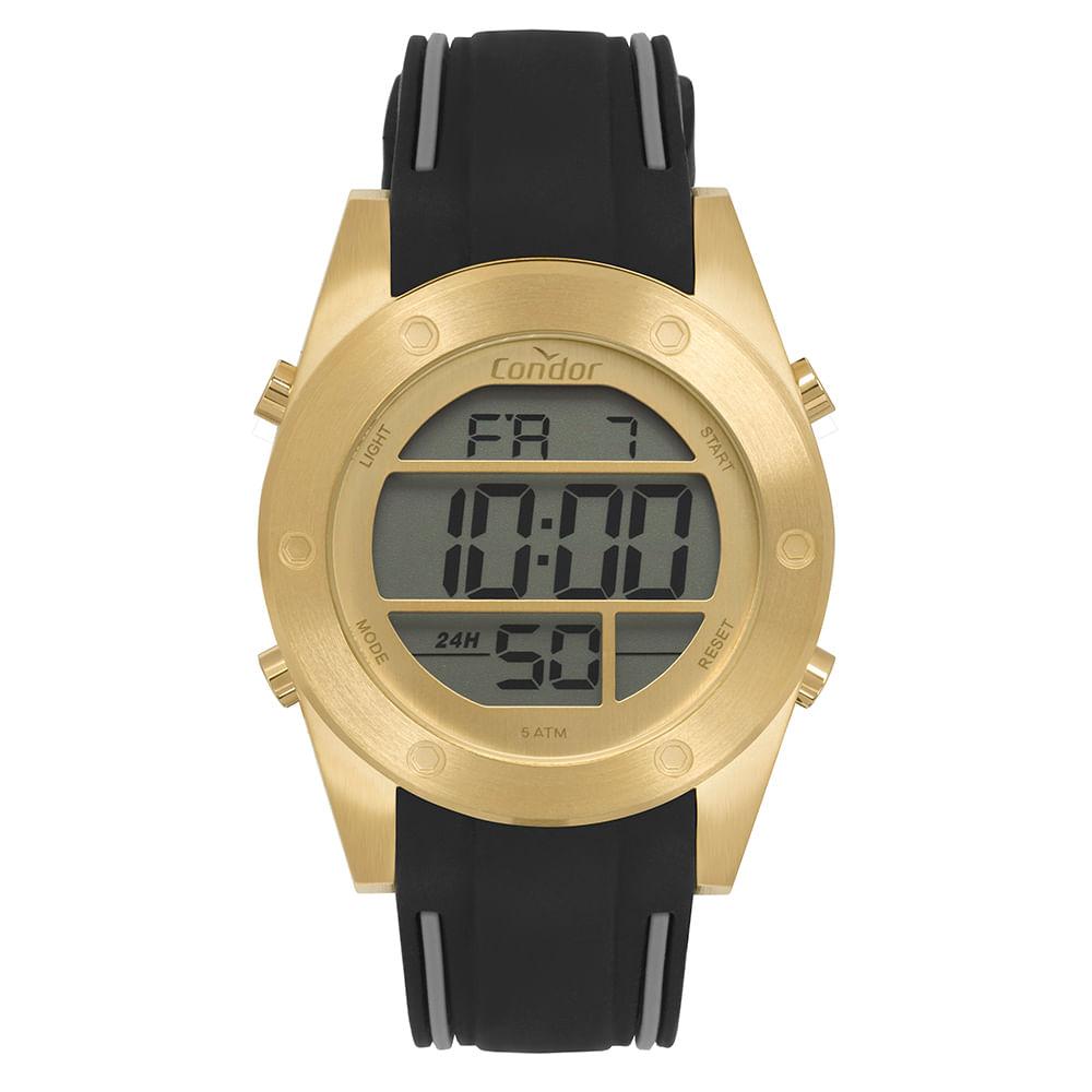 92b0f83d073 Relógio Condor Masculino Digital Dourado COBJ3463AF 3D - timecenter
