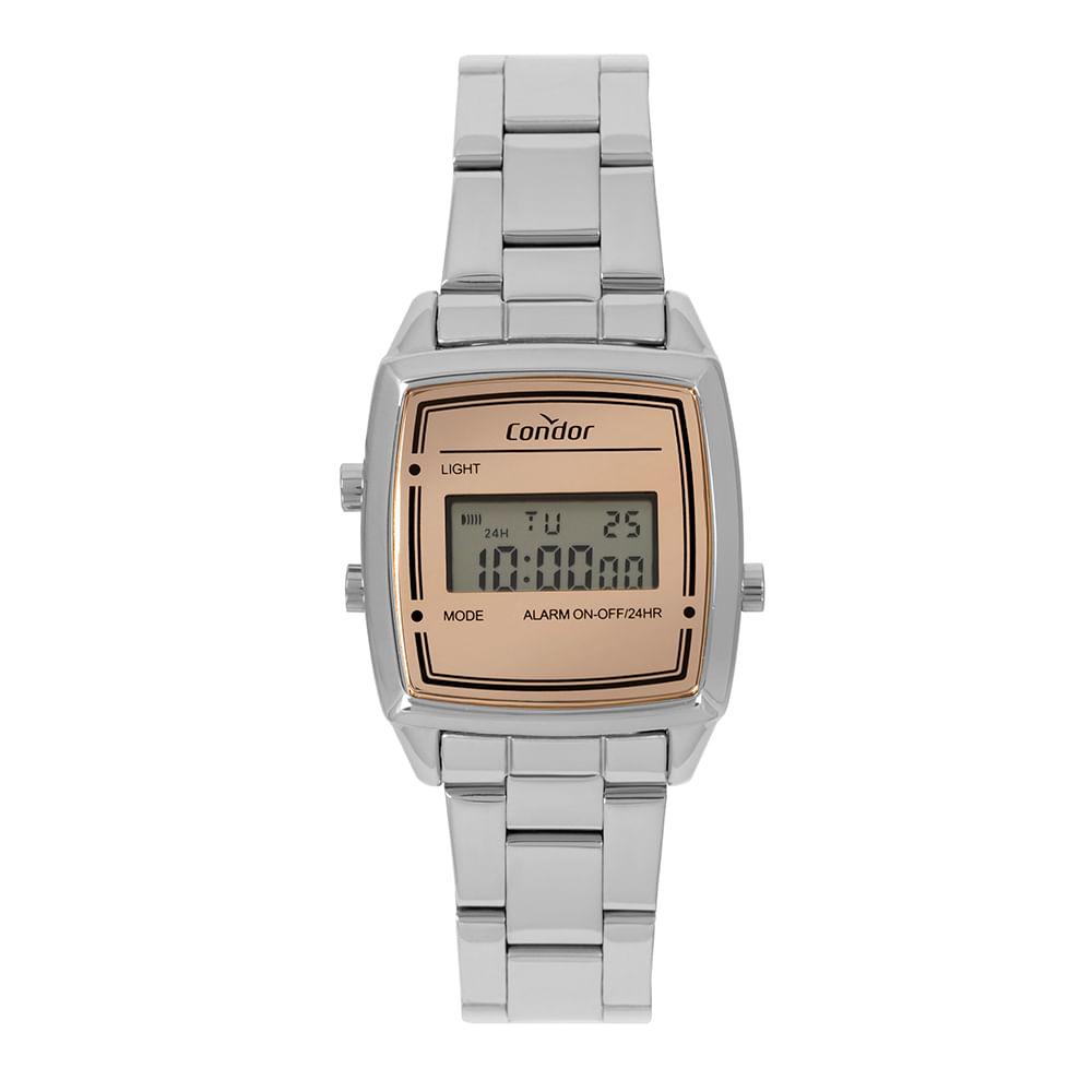 319608b3c9d Relógio Condor Feminino Mini Prata COJH512AD 3J - timecenter