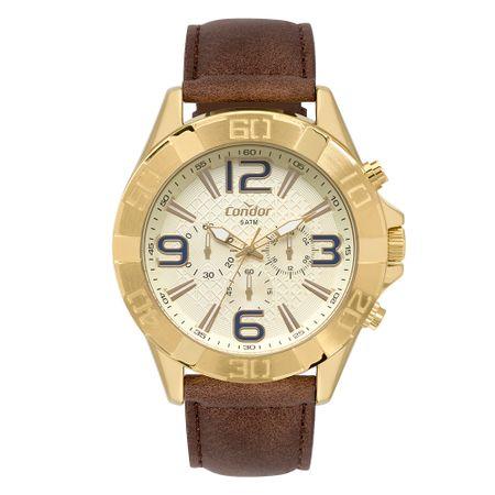Relógio Condor Masculino Civic Dourado COVD54BB/2D