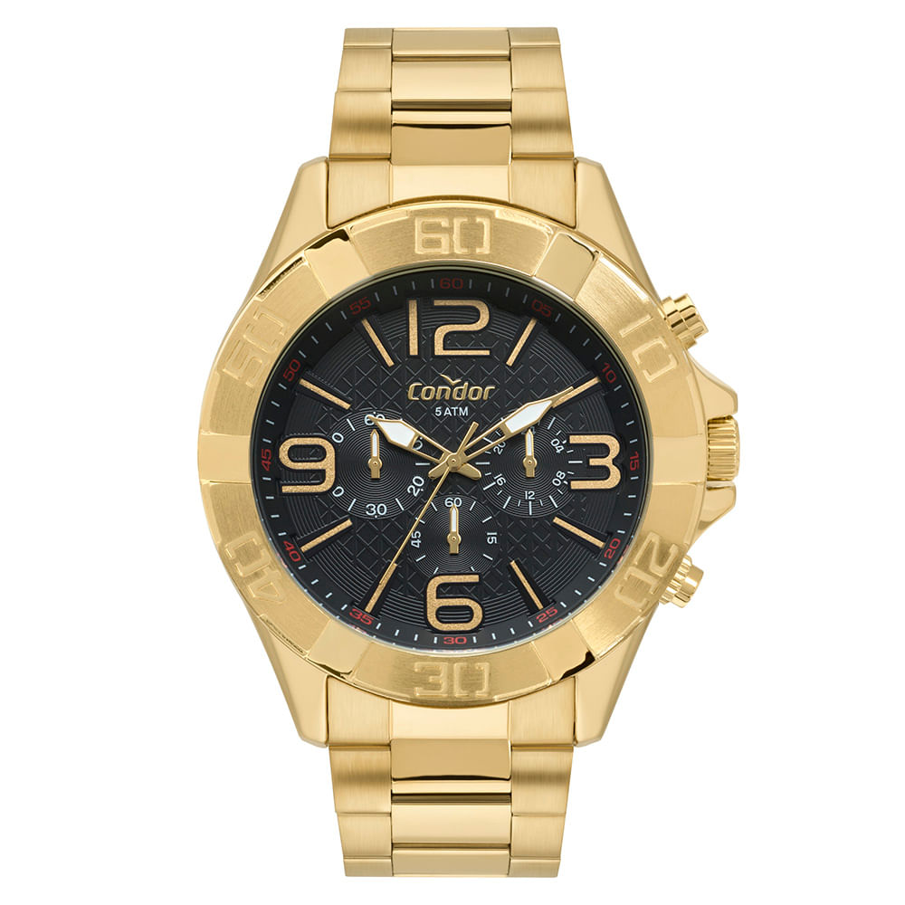 b482c1fb71f Relógio Condor Masculino Civic Dourado COVD54BD 4P - timecenter