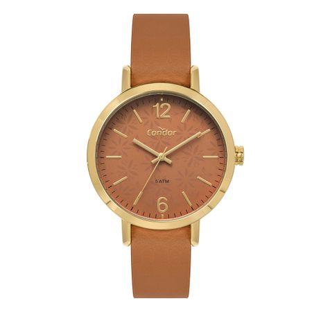 Relógio Condor Feminino Bracelete Dourado CO2035KYQ/K2M