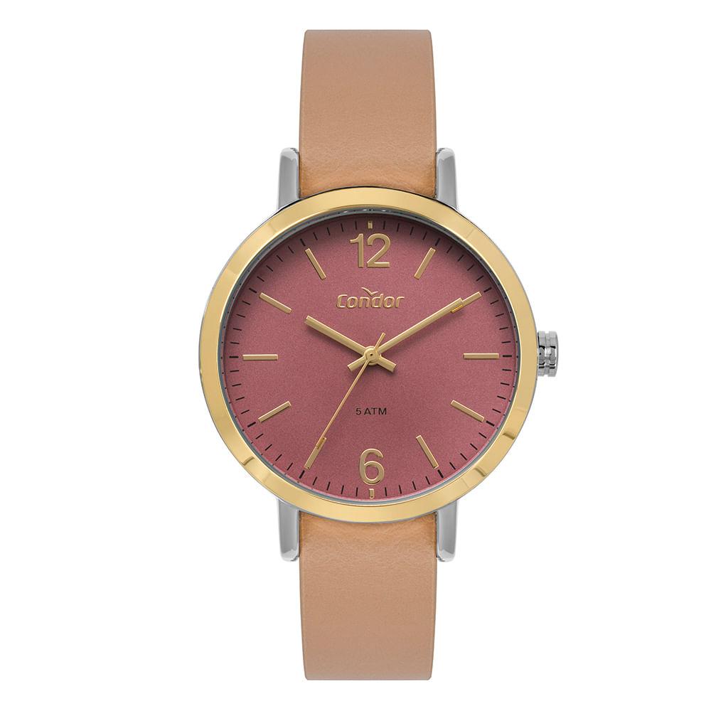 bc8d1bb017e Relógio Condor Feminino Bracelete Dourado CO2035KYS K2T - timecenter
