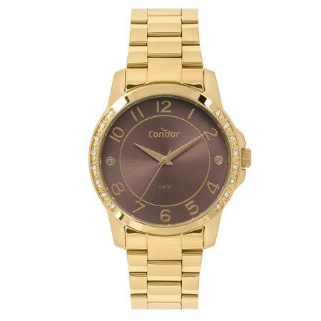Relógio Condor Feminino Bracelete Dourado CO2035KOM/K4M