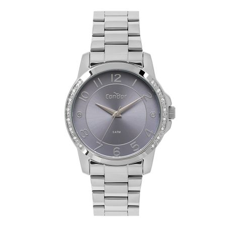 Relógio Condor Feminino Bracelete Prata CO2035MOP/K3A