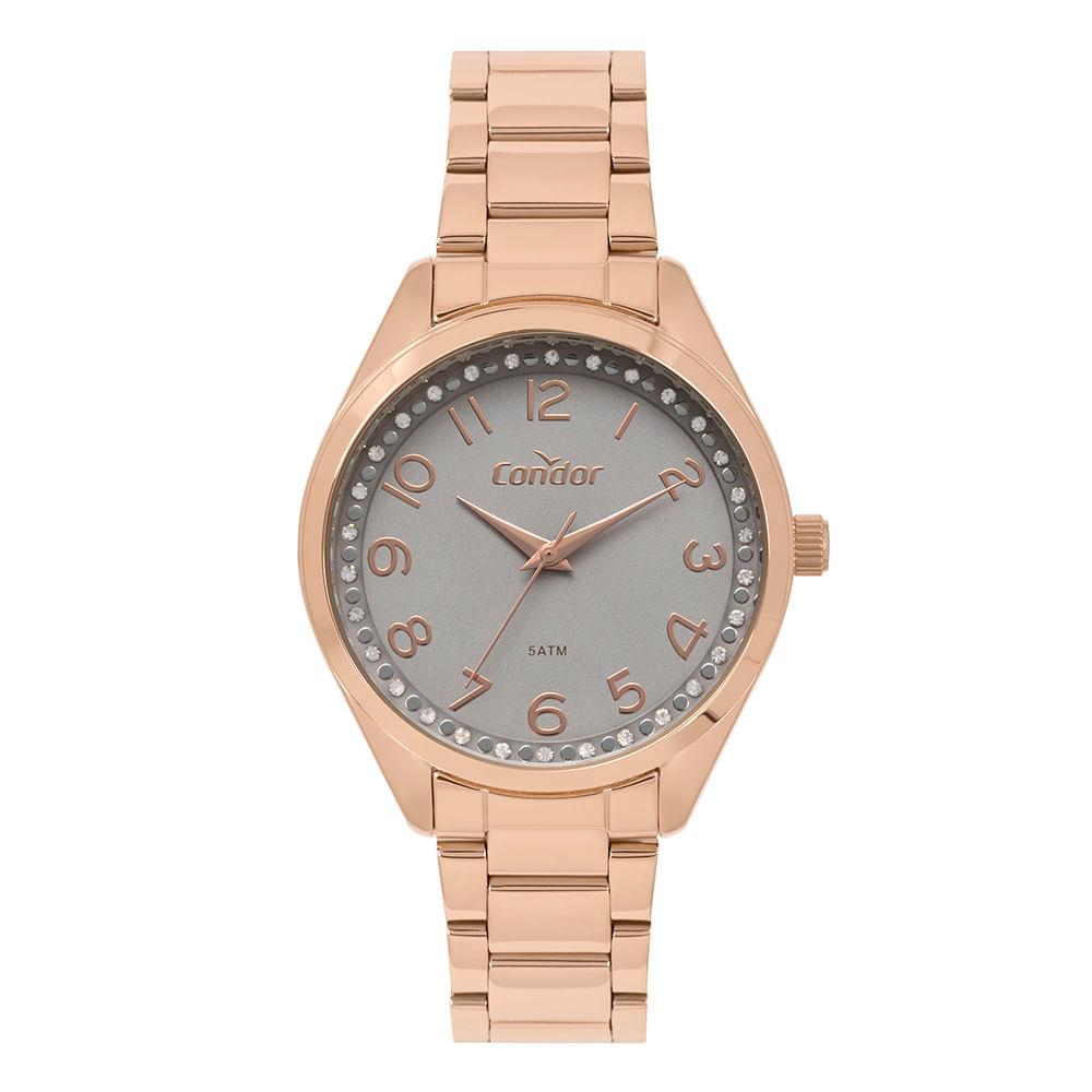 607d6039366 Relógio Condor Feminino Bracelete Rosé CO2035MOY 4C - condor