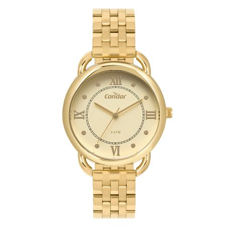 Relógio Condor Feminino Bracelete Dourado CO2035MPQ/4D